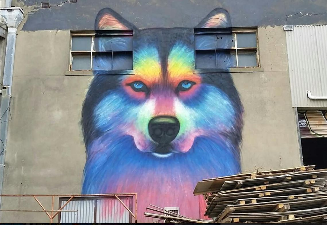 Street art wolf findingskeepingsseekings
